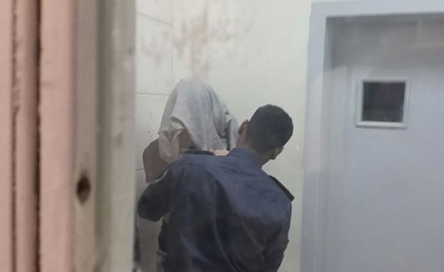 החשוד הראשון בחיסול, אתמול (צילום: עזרי עמרם, חדשות 2)