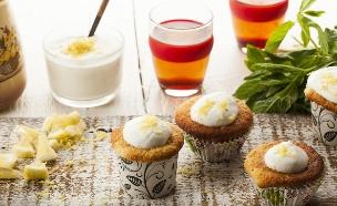 קאפקייק גבינה ולימון (צילום: אפיק גבאי, אוכל טוב)