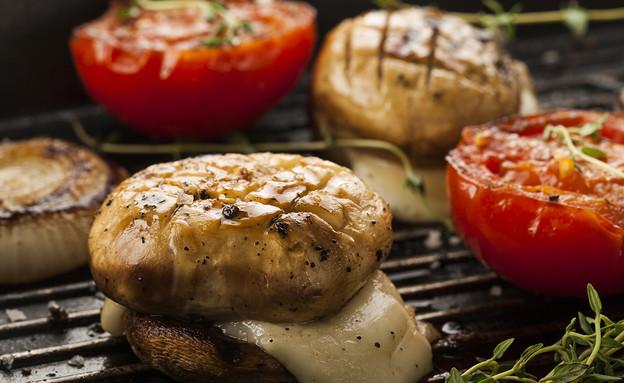 המבורגר פטריות וגבינה (צילום: אפיק גבאי, אוכל טוב)