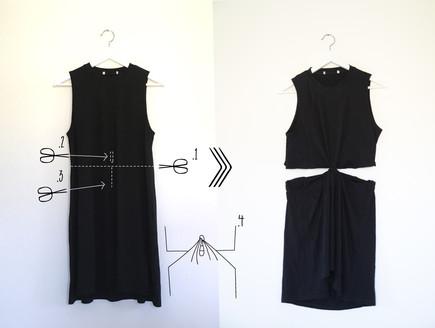 שמלת חתך במותן (צילום: נועה קליין)