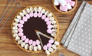 פאי שוקולד ומרשמלו (סמורס) (צילום: ענבל לביא, אוכל טוב)