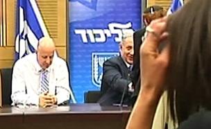 צפו בנזיפה בישיבת הסיעה (צילום: ערוץ הכנסת)