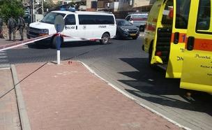 """זירת התאונה באילת, הבוקר (צילום: תיעוד מבצעי מד""""א)"""