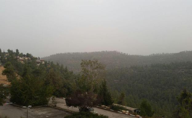 גשם מקומי בסוף מאי