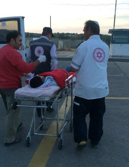 """סיוע הומניטרי לפלסטינים (צילום: באדיבות מתפ""""ש)"""