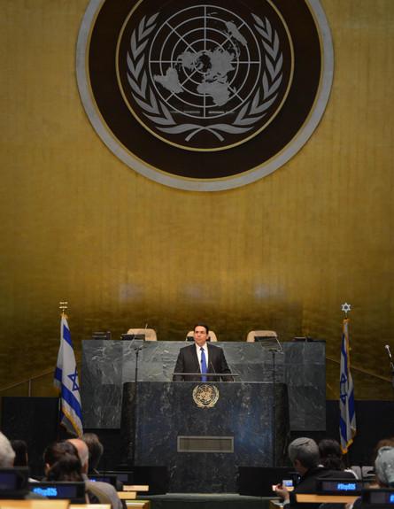 """כינוס באו""""ם נגד תנועות החרם (צילום: שחר עזרן)"""