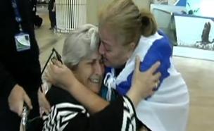 רגע חזרתה של רחל לארץ (צילום: חדשות 2)