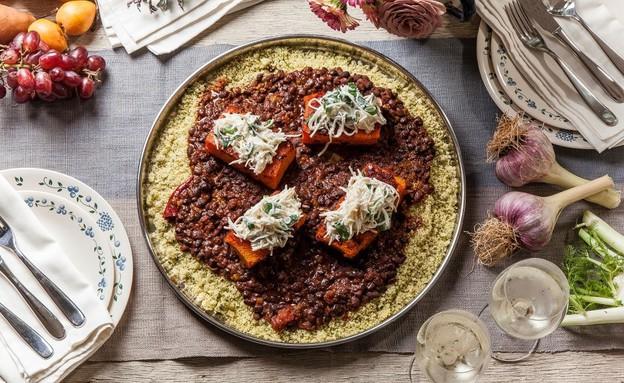 ארוחה צמחונית (צילום: אפיק גבאי, סטיילינג: דיאנה לינדר)