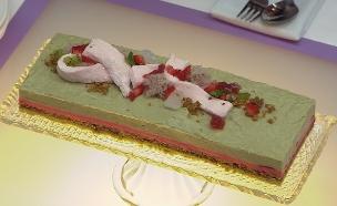 עוגת תות פיסטוק (צילום: דניאל בר און, בייק אוף ישראל)