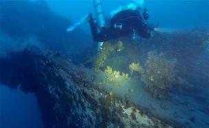 אותרה בעומק של 100 מ' ספינת קול השלום (צילום: IWET)