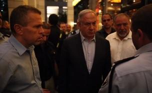 נתניהו ליברמן וארדן בזירה (צילום: חדשות 2)