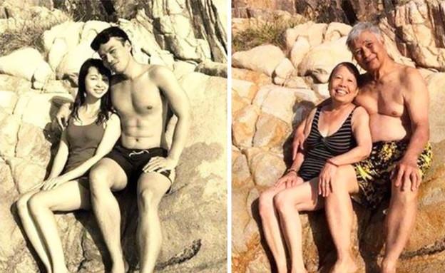 גבר ואישה אז והיום (צילום: boredpanda)