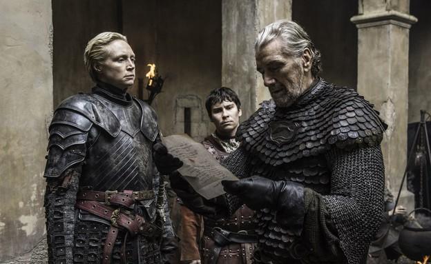בלאקפיש טאלי, פודריק ובריאן ב'משחקי הכס' עונה 6 פר (צילום: HBO)
