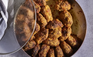 קציצות עוף, אורז וירקות, עוף טוב (צילום: דן פרץ, עוף טוב)