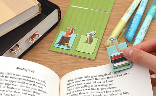 שבוע הספר 07, מרקרים, סימניות, דגלונים ודפי ממו (צילום: jetpens.com)