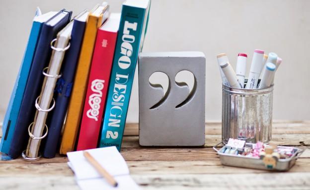 שבוע הספר 20, תומך ספרים מבטון (צילום: סימסיסטרס)