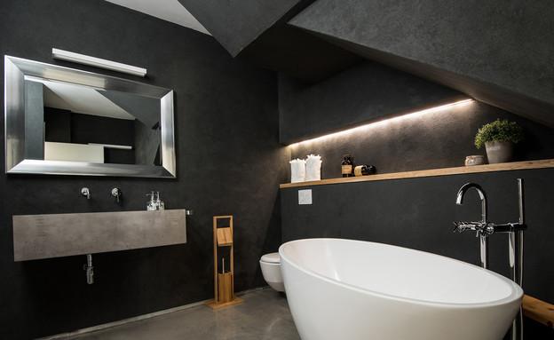 שלום אדריכלות, אמבטיה (צילום: אביב קורט)