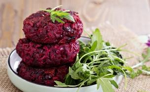 המבורגר טבעוני (צילום: Elena Veselova, Shutterstock)