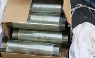 צינורות לייצור מרגמות (צילום: רשות המעברים במשרד הביטחון)