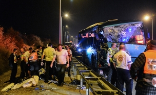 זירת התאונה בחודש שעבר (צילום: פלאש 90)