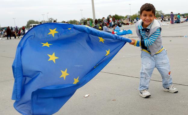 מחאה נגד מדיניות הפליטים (צילום: רויטרס)