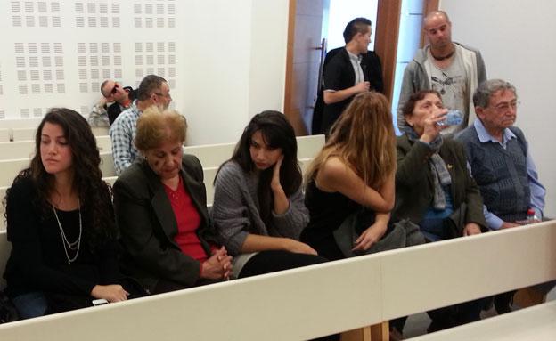 משפחתה של מור חיים בבית המשפט, ארכיון (צילום: חדשות 2)