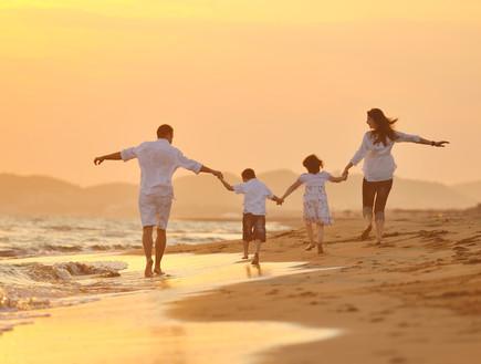 משפחה בים
