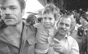 קבלת הפנים לחטופים ממבצע יונתן (אנטבה) (צילום: חדשות 2)