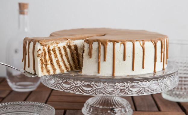 עוגת ביסקוויטים זברה חגיגית פרוסה (צילום: דרור עינב, אוכל טוב)