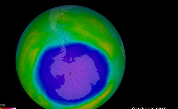 החור באוזון (צילום: NASA/Goddard Space Flight Center)