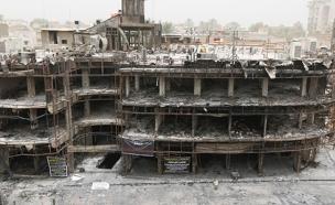 תיעוד: הרס עצום אחרי הפיגוע הקטלני בבגדד (צילום: רויטרס)