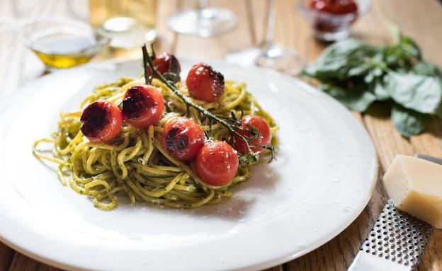ספגטי פסטו (צילום: נמרוד סונדרס, אוכל טוב)