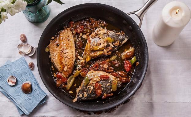 ארוחת רושם לאורחים - פילה דג צרוב  (צילום: אפיק גבאי, סטיילינג: דיאנה לינדר)