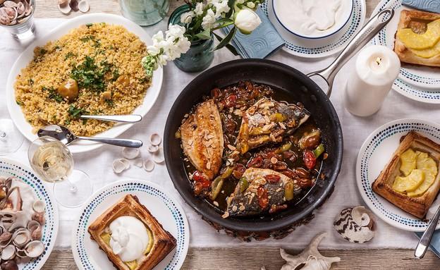 ארוחת רושם לאורחים  (צילום: אפיק גבאי, סטיילינג: דיאנה לינדר)