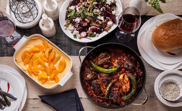 ארוחת שישי (צילום: אפיק גבאי, סטיילינג: דיאנה לינדר)