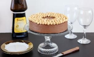 עוגת מוס נוטלה ללא אפייה (צילום: ענבל לביא, אוכל טוב)