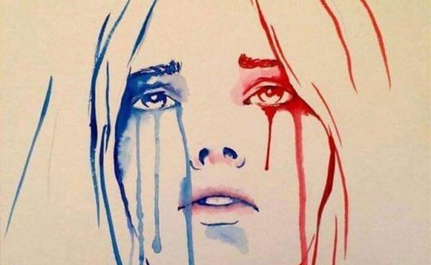 פיגוע דריסה צרפת ניס, קריקטורה (צילום: טוויטר)
