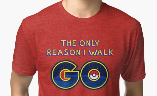 חולצת פוקימון גו (צילום: redbubble)