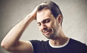 אילוסטרציה גבר בוכה (צילום: Ollyy, Shutterstock)