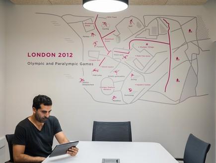 מפות הכפרים האולימפיים שולבו בעיצוב