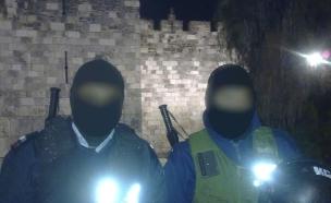 תגבור שוטרים (צילום: שי לוי)