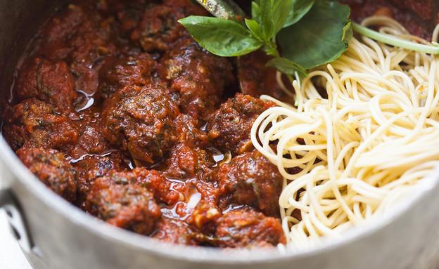 ספגטי מיטבולס (צילום: אפיק גבאי, אוכל טוב)