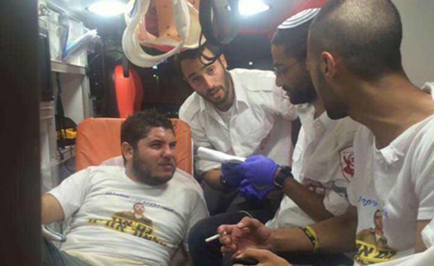אחד המפגינים שנפצע בתקיפה