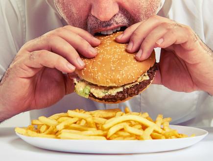 המבורגר וצ'יפס (צילום: ArtFamily, Shutterstock)