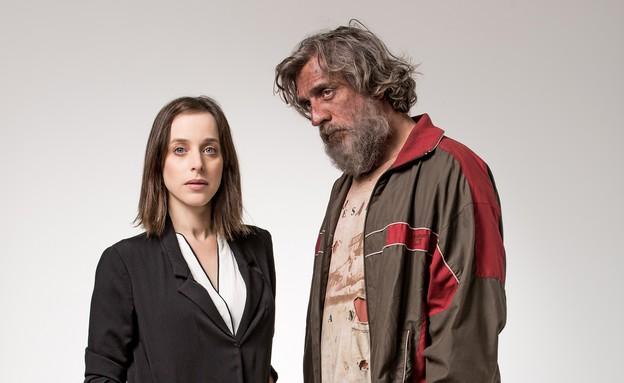 """ליאור אשכנזי וליאת הרלב ב""""עקרון ההחלפה"""" (צילום: אוהד רומנו,  יחסי ציבור )"""