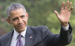 ברק אובמה שמאלי (צילום: Pool, GettyImages IL)
