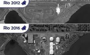 מבט מן החלל: הכפר האולימפי לפני ואחרי