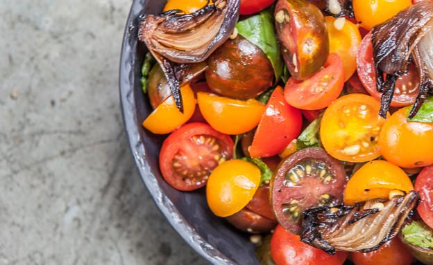 מסעדת ג'קוס סטריט בירושלים - סלט עגבניות (צילום: גלי שריג)