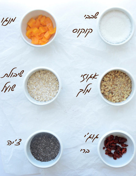 ארוחת בוקר טבעונית טרופית: המרכיבים (צילום: שקמה יעקבי, TivonEat)