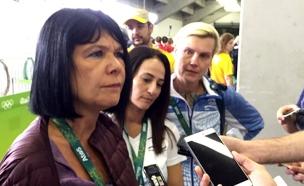 אירה ויגדורצ׳יק באולימפיאדה (צילום: חדשות 2)